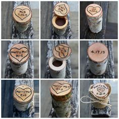 Ring Box Rustic Wood Personalized
