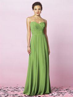 Beautiful green bridesmaids dresses, like the shape