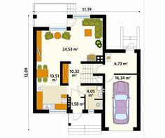 Projekt domu Sopran - rzut parteru