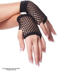 Private Island Party  - 80's Short Fishnet Gloves - Black, $0.70- $1.99   Sexy and stylish, for wearing with your regular clothes, or as a costume accessory.