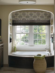For the Home Tudor Revival - traditional - bathroom - minneapolis - Lucy Interior Design The CQT Tri Bathroom Window Treatments, Bathroom Windows, Modern Windows, Large Windows, Traditional Bathroom, Window Design, Beautiful Bathrooms, Luxurious Bathrooms, Modern Room