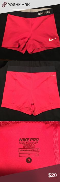a0696e3c98488 Nike pro spandex All pink with black waist band spandex. Very comfortable  to work out