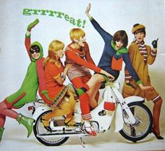 Swinging 60s.  I had one of these as a teenager.  Never could fit this many girls on it.