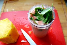 Getting your greens: Pineapple Spinach Smoothie