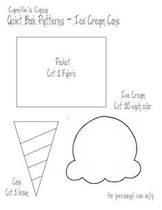 Quiet Book Templates | Quiet Book Pattern and Printable - Ice Cream