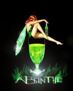 Absinthe, The green fairy. I have danced with the green fairy. Vintage Ads, Vintage Posters, Retro Posters, Vintage Food, Green Fairy Absinthe, Irish Drinks, Illustration Art Nouveau, Fairy Art, Faeries