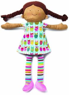 d8229f24669 Zoe s Owls - A comforting 15 inch Waldorf style ethnic rag doll. Toddler  Toys