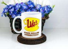 Gilmore Girls Coffee Mug, Luke's Diner Mug, LUKE'S Diner,Stars Hollow Connecticut,Gilmore Girls Inspired, Cute Office Deco, Cuevex Mugs by Cuevex on Etsy https://www.etsy.com/listing/267182635/gilmore-girls-coffee-mug-lukes-diner-mug