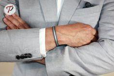 Men's Leather Bracelet Custom Leather Bracelet by PearlTwinkle