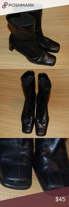 """Peter Kaiser Calf Boots Nice pre-owned boots. One small scuff mark on each toe, see pics. Square heel and toe. 3.25"""" heel Peter Kaiser Shoes Heeled Boots"""