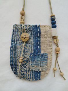 Indigo dyed hemp Talisman Pouch by Indinoco on Etsy www.indinoco.com
