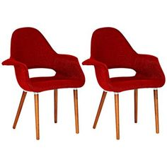 This Forza red trill chair is unique in design and perfect for leisure.