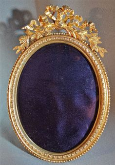 Gilt Bronze French Oval Picture Frame C1900 | eBay