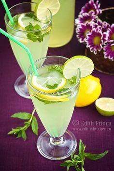 limonada cu menta Edith's Kitchen, Beverages, Drinks, Bowl, Smoothies, Juice, Remedies, Vegan, Tableware