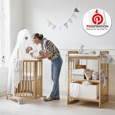 Modern designs made of durable materials to last for years, as the products grow with your baby. From Stokke, of course!