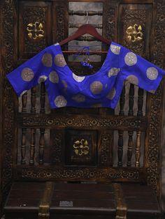 Royal Blue Uppada Silk Banarasi Blouse Live In The Now, Teal Green, Signature Style, Royal Blue, Blouses, Silk, Blouse, Silk Sarees, Hoodie