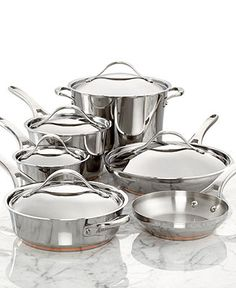 Anolon Nouvelle Copper Stainless Steel 11 Piece Cookware Set - Cookware - Kitchen Categories - Macy's