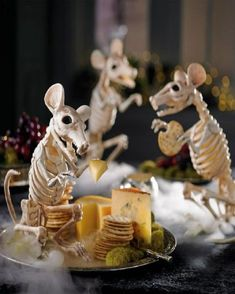 The Skeleton Rat Halloween decoration has faded bones, jagged teeth, and a very frightening presence. #Halloween #Decor