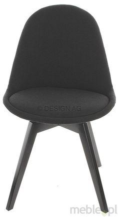 Tenzo Krzesło Donna Czarne Tkanina Nogi Bess Drewniane Czarne - DonnaBess-C-C, Tenzo - Meble
