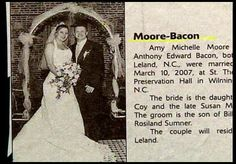 House/Reckker, Rather/Grim and Partee/Moore: Hilarious wedding announcements from couples with unfortunate surnames Funny Names, Cool Names, Wedding Name, Wedding Humor, Wedding Dress, Bacon Funny, Bacon Bacon, Bacon Jokes, Anthony Edwards