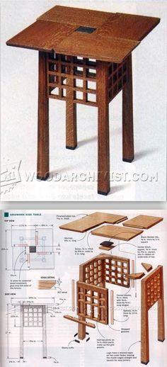 Gridwork Side Table Plans - Furniture Plans and Projects | WoodArchivist.com