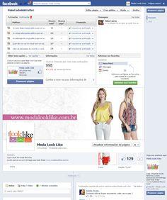 Administração página Facebook da loja virtual Moda Look Like. Acesse a página http://www.facebook.com/modalooklike