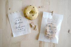Kit 10 sacchetti per confettata personalizzati  di PearlsToPigeons