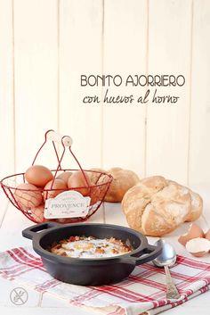 Bonito ajoarriero con huevo al horno {by Paula, Con las Zarpas en la Masa}