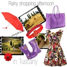 """""""Rainy Shopping afternoon in Tuscany"""" by furettina on Polyvore"""