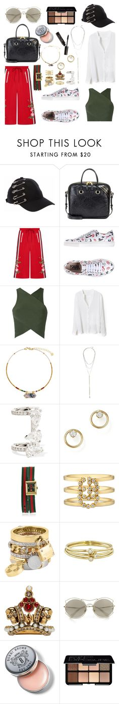"""Untitled #878"" by adda21 ❤ liked on Polyvore featuring Balenciaga, Gucci, Karl Lagerfeld, EGREY, NAKAMOL, Repossi, ZoÃ« Chicco, Henri Bendel, Jennifer Meyer Jewelry and Alexander McQueen"