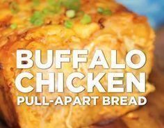 Easy Buffalo Chicken Pull Apart Bread