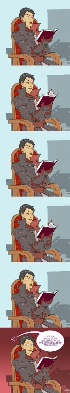 DA:I - Reading Time by aimo.deviantart.com on @DeviantArt