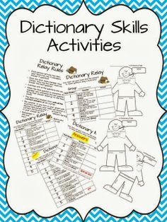dictionary skills lessons for 2nd-5th
