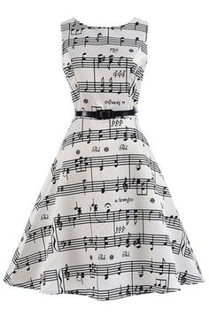 Music Note Party Swing Dress