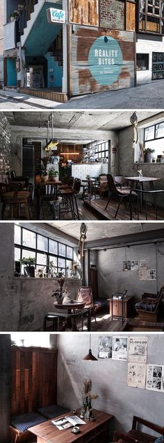 Best of Interior Designs Ideas Cafe Restaurant Estilo Interior, Cafe Interior, Interior And Exterior, Bistro Interior, Coffee Shop Bar, Coffee Shop Design, Industrial Interior Design, Industrial Interiors, Industrial Style