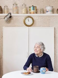 "Judith Kerr in her kitchen in south-west London. ""In Barnes was very grotty. Tea Display, Photography Collage, Tiger Design, West London, The Guardian, Childrens Books, Author, Kitchen, People"