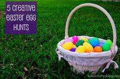 Color-coded hunt, scavenger hunt, glow in the dark hunt- great ideas for creative Easter Egg Hunts
