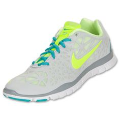 online store 2015f 8adf3 Womens Nike Free TR Fit 3 Pure Platinum Sport Turquoise Grey Comfortable  Sneakers, Cross Training