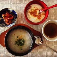 The seven herb rice porridge_ NANAKUSA GAYU #七草粥  January 7th is a day to eat this for protect oneself against evils, invite good luck and longevity!  #healthy #thejapanesecuisine #ケータリング #downtoearthfs #ヘルシー #和食
