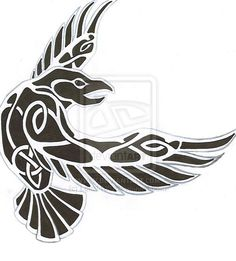 Tribal Norse Raven Tattoo Design Idea