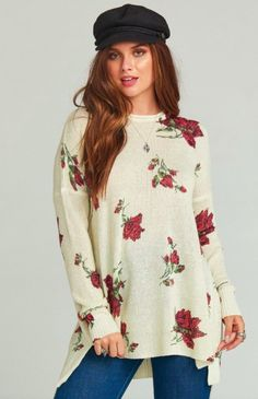94ac81c823 Show Me Your Mumu Sweater- Hannah s Rose Shimmer Knit