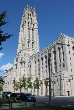 The Riverside Church is a famous interdenominational congregation located close to Columbia in the Morningside Heights neighborhood of New York City. It has been visited by and associated with significant figures ranging from John D. Rockefeller to Martin Luther King, Jr., and it also still has the country's tallest church tower, which is visible from much of Harlem.