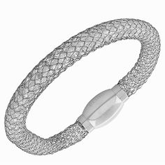 Fine Stainless Steel Silver White Gold Tone Crystals CZ Mesh Womens Bracelet | eBay