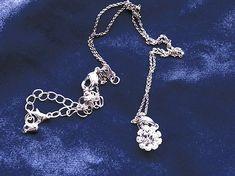 Newbridge Flower Pendant Clear Stone Irish Jewelry, Claddagh, Flower Shape, Flower Pendant, Boutique, Stone, Bracelets, Flowers, Silver