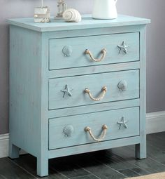 Rustic Dresser Designed for a Beach Enthusiast
