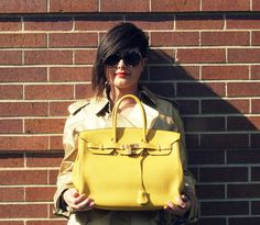 Its finally here! Bid on the Hermes Yellow Leather Clemence Birkin @shopedropoff.com