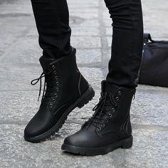 Envío libre Retro botas de Combate botas de Invierno-estilo de Inglaterra de los hombres de moda botas de Montar cortos zapatos Negros de Los Hombres caliente(China (Mainland))