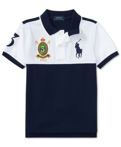 Ralph Lauren Colorblocked Cotton Polo, Toddler & Little Boys - White Polo T Shirts, Golf Shirts, Collar Shirts, Camisa Polo, Italian Shirts, Nigerian Men Fashion, Scania V8, Preppy Men, Superdry Mens