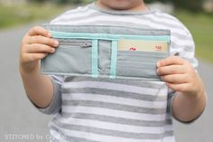 Time to sew for the boys! Make this cute bifold wallet for your little guy (or gal) with this step-by-step tutorial!