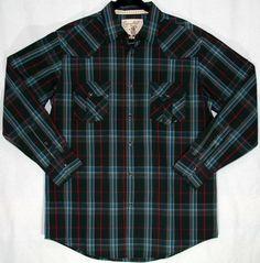 Carbon Western Men's Long Sleeve Shirt - Black/Red   $43.00